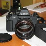 canon New F1 et objectif 85mm f1,2L