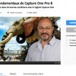 voir le tutoriel video Capture one Pro